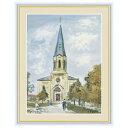 額 三幸 飾1号 モンルヴェルの教会 F4 G4-BM081 ユトリロ 154764610