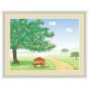 額 三幸 飾1号 リンゴの木 F6 G4-CM001 鈴木 みこと 154764742
