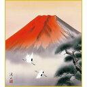 色紙 三幸 趣1号 赤富士飛翔 K13-001 渓山 色紙のみ 154791108