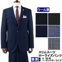 スーツ ローライズパンツ スリムスーツ メンズスーツ ビジネススーツ MEN'S SUIT 【春夏】5種から選べる 春夏スーツ ノータックパンツ