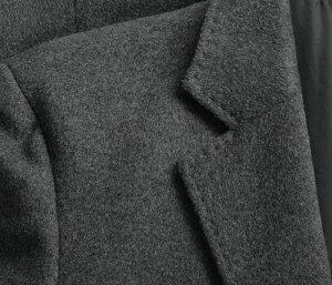 【カシミヤ混ウール素材】シングルチェスターロングコート(メンズコートビジネスコートカシミヤ混素材メンズコート)【送料無料】05P03Dec16