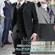 段返り3ツボタン モッズスタイル スリーピーススーツ(春夏物 ビジネススーツ スリムスーツ メンズ 3ピーススーツ パーティー 二次会 結婚式 Mods メンズスーツ 紳士服) suit【送料無料】