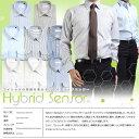 Hybrid Sensor 長袖 ビジネス ワイシャツ 全8種 ( 形態安定 吸水 速乾 ストレッチ 消臭 制菌 静電気防止 )
