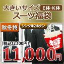 【E体 福袋】秋冬物 大きいサイズ 2ツボタン スーツ メンズ メンズスーツ ビジネス ビジネススーツ 紳士服 結婚式 キング 黒 紺 グレー(E体)
