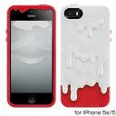 スマホケースカバーiPhone55sseSwitchEasyクリスマスカラーホワイトレッド白赤ジャケットラバー帯電防止加工スクリーン保護フィルム(2枚)MeltChristmasEdition
