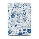 タブレットケース カバー iPad Air OZAKI ブルー ホワイト 青 白 手帳型 フリップ 人 O coat Slim-Y Rela OC113BU