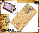 ショッピングis03 URBANO L02 手帳型 urbano l02 カバー urbanol02 手帳 アルバーノl02 ケース 世界地図 レザー スホケース 送料無料