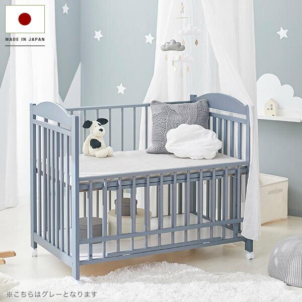 ベビーベッドベビーベッドフレームベッド赤ちゃんベッド天然木ベッド国産baby海外風フレームのみ新生活