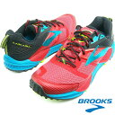 BROOKS ブルックス MEN メンズ スニーカー CASCADIA 12 (698) HIGH RISK RED/BLACK/VIVID BLUE