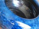 信楽ネイビーブルー火鉢、11号、(オリジナル)写真よりは少しダークな色になりますその中に和と洋の要素を取り入れ他には無い物です。御使用の仕方によっては、素晴らしい空間が産み出される事と思います。