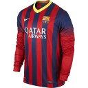 ナイキ 2013−14 NIKE−547926−413 バルセロナ FCB DRI−FIT 長袖 ホーム レプリカ ゲームシャツ