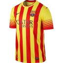 ナイキ NIKE−532823−703 2013−14 バルセロナ FCB DF 半袖 アウェイ レプリカ ゲームシャツ