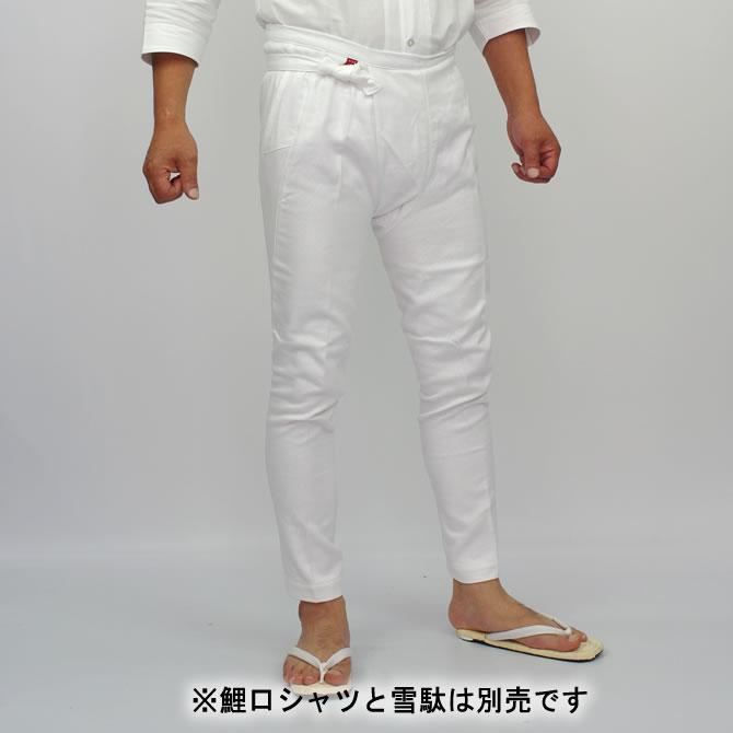 お祭り用品 白刺子股引 小・中・大