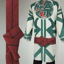 ワンタッチ角帯 (幅:約8cm) 一本どっこ エンジ色 [ 祭り 衣装 大人 祭り 帯 角