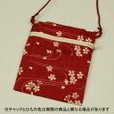 ちびポーチ波に桜(エンジ)