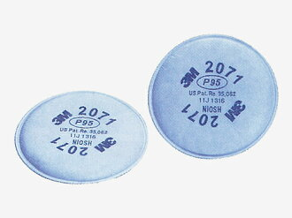 3 M dust mask No.2071 filter material (2 discs) (3 m).