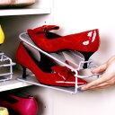 靴箱、下駄箱内の靴収納に。高さ調節OK、男女兼用。片足分のスペースで、1足分の靴が収納できま...