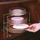 [えつこのゴールドプレートラック] 収納 キッチン 食器棚 ...