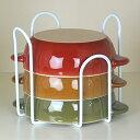 [えつこの重ねて安心ラック L ] 収納 キッチン 食器棚 お皿 ボウル 鉢 地震対策 ホワイト 日本製