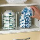 [えつこの重ねて安心ラック M 2個組] 収納 キッチン 食...