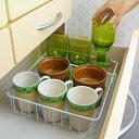 [えつこの食器ガードラック ] 収納 キッチン 食器棚 引き...
