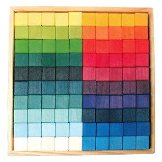Grims 格林木制積木多維資料集的彩虹,大,100 pc GM42260 10P04Jul15