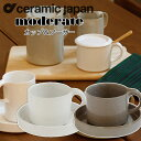 セラミックジャパン Ceramic Japan モデラートカップ&ソーサー OM-1-WH OM-1-GY