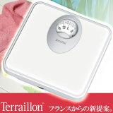 旧商品 Terraillon(テライヨン) アナログ体重計 T61 ホワイト TBS855WT