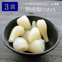【新物】『熟成塩らっきょう』90g×3袋セット九州産 らっきょう 塩 熟成 国産 宮崎県産