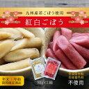 期間限定『紅白ごぼう』紅ごぼう(梅酢)&白ごぼう(白ダシ)80g×2種ゆうパケット・