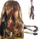 ヘアアクセサリー インディアンスタイルヘアピン 羽 演出用 写真用 民族 エスニック
