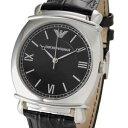 大激安!/EMPORIO ARMANI/アルマ-二/腕時計/ウォッチ/アルマ-二時計/アルマ-二、メンズ/高級腕時計新品本物取扱店/ 5250円以上で送料無料EMPORIO ARMANI エンポリオ アルマ-二  メンズクォーツ ブラック ブラックレザーベルト  AR0263 腕時計