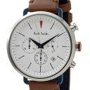 ポールスミス Paul Smith 腕時計 メンズ BR1-731-10 サイクルクロノグラフ ホワイト ブラウンレザー 信頼の日本製