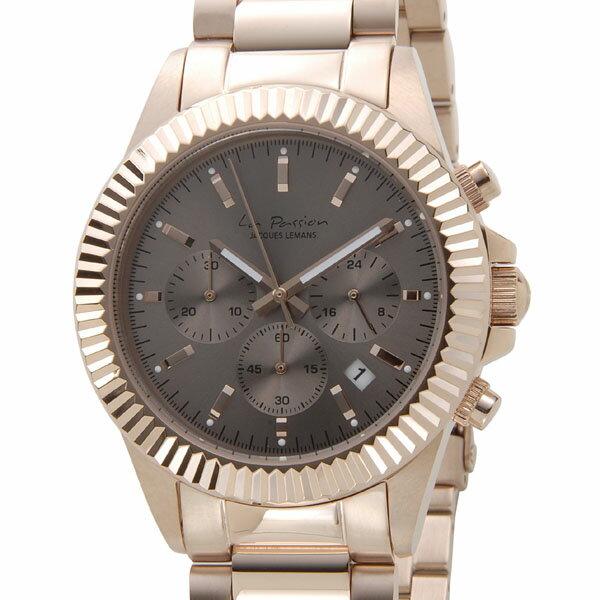 ジャックルマン JACQUES LEMANS 腕時計 レディース LP-111K ラ・パッション 42mm グレーブラック×ピンクゴールド ジャックルマン 腕時計 JACQUES LEMANS