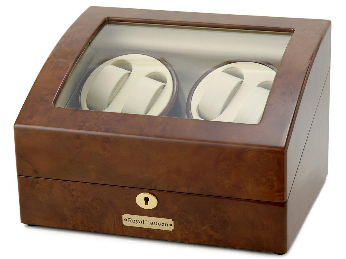 ロイヤルハウゼン ワインダー 時計収納ケース付きワインダー4本巻5本収納 Royal hausen GC03 D31 ワインディングマシーン 腕時計/自動巻き機 Royal hausen ロイヤルハウゼン ワインダー