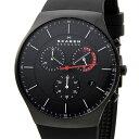 スカーゲン SKAGEN SKW6075 腕時計 メンズ チタニウム クロノグラフ シリコンラバー 新品 送料無料