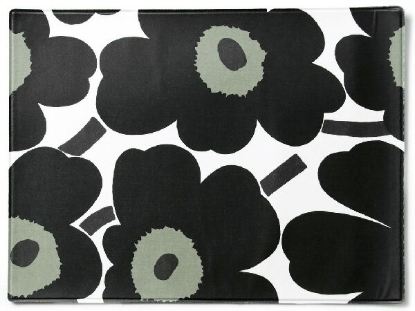マリメッコ Marimekko ランチョンマット 67629-0301 ウニッコ ブラック/ホワイト キッチン雑貨/テーブルマット