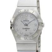 オメガ OMEGA 123.10.27.60.55.001 コンステレーション レディース 腕時計 ホワイトシェル 12Pダイヤモンド 送料無料 新品