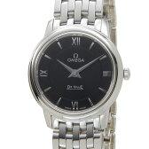 オメガ OMEGA 424.10.27.60.01.001 デビル プレステージ レディース 腕時計 ブラック×シルバー 送料無料 新品