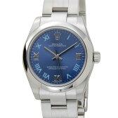 ロレックス ROLEX 177200 RG オイスターパーペチュアル レディース 腕時計 アズーロブルー 新品 送料無料