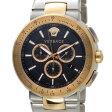 ヴェルサーチ VERSACE メンズ 腕時計 VFG100014 ミスティック スポーツ クロノグラフ ブラック×ローズゴールド 新品