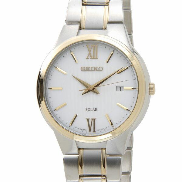 セイコー SEIKO SNE388P1 SOLAR ソーラー クオーツ ホワイト×ゴールド メンズ 腕時計 セイコー SEIKO SNE388P1