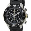 セイコー SEIKO ソーラー クロノグラフ ダイバーズ 腕時計 SSC021P1 ブラック ラバー メンズ クォーツ 電池交換不要 DEAL