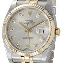 ロレックス ROLEX 116233 G-SV デイトジャスト シルバー ダイヤモンド10P メンズ 腕時計 送料無料 【10P18Jun16】
