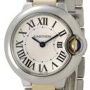 Cartier カルティエ レディース 腕時計 バロン ブルー YGコンビ SM シルバー W69007Z3【2012 バッグ 財布 時計 香水】