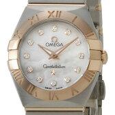 オメガ OMEGA コンステレーション ブラッシュ クオーツ レディース 腕時計 PG×SS 12Pダイヤ 123.20.24.60.55.001 送料無料 新品
