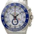 ロレックス ROLEX 116680 ヨットマスターII ホワイト×ブルー メンズ 腕時計 送料無料
