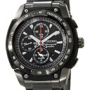 セイコー SEIKO メンズ 腕時計 SNAD49P1 クロノグラフ アラーム ブラック×ブラック ...
