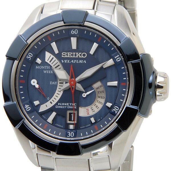 セイコー SEIKO キネティック ダイレクトドライブ 腕時計 SRH017P1 KINETIC ブルー メンズ オートクォーツ 電池交換不要 セイコー SEIKO 腕時計