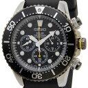セイコー SEIKO ソーラー クロノグラフ ダイバーズ 腕時計 SSC021P1 ブラック ラバー メンズ クォーツ 電池交換不要 DEAL-SP 新品 送料無料